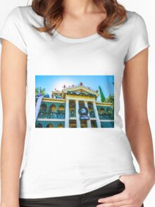 haunted holidays Women's Fitted Scoop T-Shirt