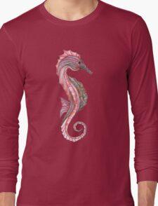 Tangled Seahorse Right Facing Long Sleeve T-Shirt