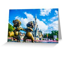 Chip And Dale Greeting Card