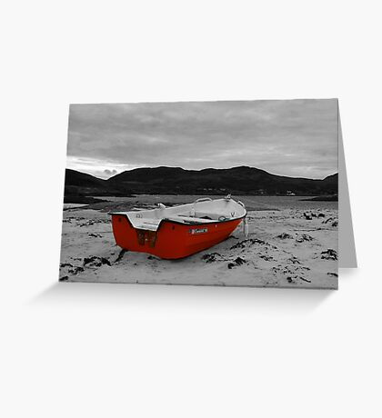 Red Boat at Sanna Greeting Card