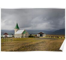 Small Church on the drive from Reykjavik to Stykkishólmur Poster