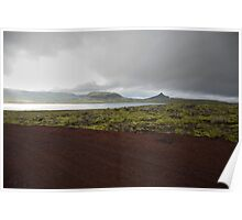 Iceland Landscape on the drive from Reykjavik to Stykkishólmur Poster