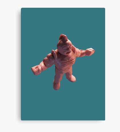 3d muscle man Canvas Print