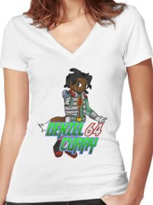 Denzel Curry 64 Women's Fitted V-Neck T-Shirt