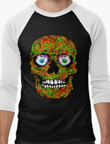 PSYCHEDELIC SKULL Men's Baseball ¾ T-Shirt