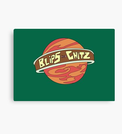 Blips and chitz logo from Rick and Morty in color Canvas Print