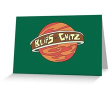 Blips and chitz logo from Rick and Morty in color Greeting Card