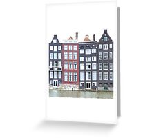 Leaning Houses Greeting Card