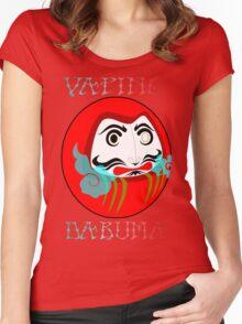 vaping daruma Women's Fitted Scoop T-Shirt