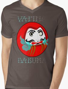 vaping daruma Mens V-Neck T-Shirt