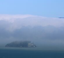 Alcatraz Island, San Francisco Bay by Laurie Puglia