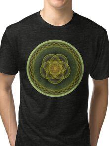 Green Spiral Disk Tri-blend T-Shirt