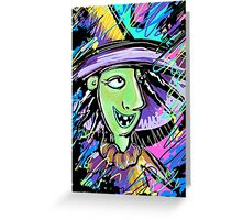 Nightmare Before Christmas Abstract- Shock Greeting Card