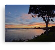 Forster winter sunset Canvas Print