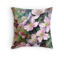 Clematis Montana Throw Pillow