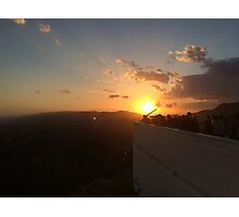 Sunset over Griffith Park Observatory Photographic Print
