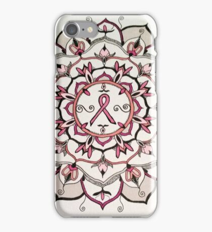 Pink Ribbon Mandala iPhone Case/Skin