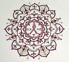 Pink Ribbon Mandala by leighannart