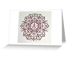 Pink Ribbon Mandala Greeting Card