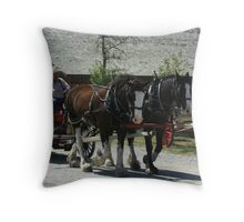 Fort Steele Clydesdales Throw Pillow
