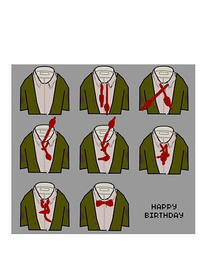 How to doctor who bow tie birthday card by Scott Barker