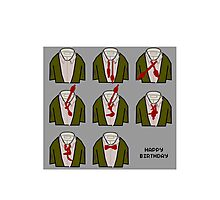 How to doctor who bow tie birthday card Photographic Print