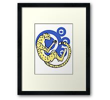 World in the palm of your hand (Blue) Framed Print