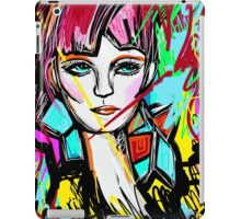Abstract Colorful Red Head Girl iPad Case/Skin