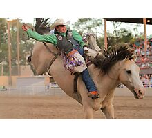 State Finals Rodeo Bareback Riding 2 Photographic Print