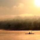 Lake Moogerah and the Lonely Paddler by Kym Howard