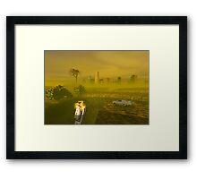 Driving to Oblivion City Framed Print
