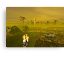 Driving to Oblivion City Canvas Print