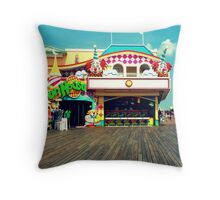 """""""Step inside my fun house"""" (insert evil laugh here) Throw Pillow"""