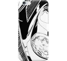 1937 Ford Coupe Hotrod with Flames - Pen and Ink iPhone Case/Skin