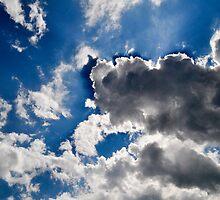 White clouds, Blue Sky by atlasthetitan