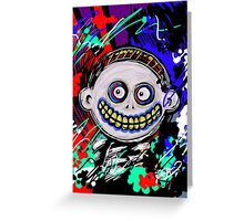 Nightmare Before Christmas Abstract- Barrel Greeting Card