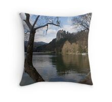 Lake Bled Throw Pillow