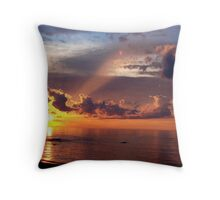 Sunset over Lake Superior Throw Pillow