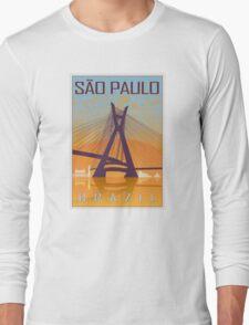 Sao Paulo vintage poster Long Sleeve T-Shirt