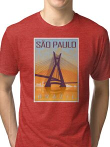 Sao Paulo vintage poster Tri-blend T-Shirt