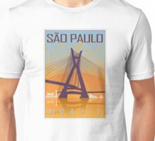 Sao Paulo vintage poster Unisex T-Shirt