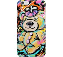Stuffed Teddy Bear with Beanie Abstract iPhone Case/Skin