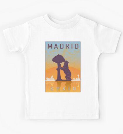Madrid vintage poster Kids Tee