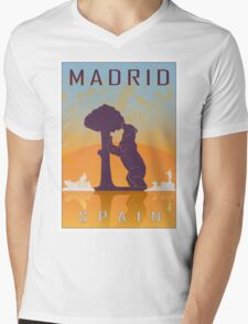 Madrid vintage poster Mens V-Neck T-Shirt