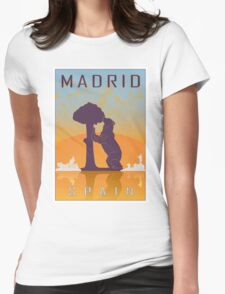 Madrid vintage poster Womens Fitted T-Shirt