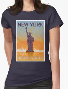 New York vintage poster Womens Fitted T-Shirt