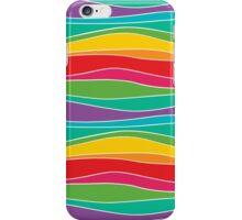 Retro Mod Rainbow Waves iPhone Case/Skin