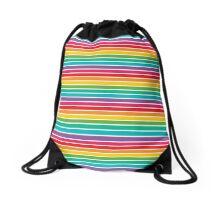 Rainbow Stripes Drawstring Bag