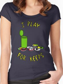 I play for keeps! Women's Fitted Scoop T-Shirt