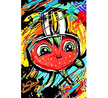Berry Berry with a Football helmet Photographic Print